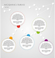 white infographics vector image vector image