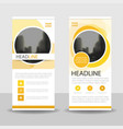 Yellow circle business roll up banner flat vector image