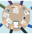 Meeting office teamwork brainstorming concept vector image