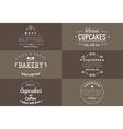 Typography bakery t-shirt design set vector image
