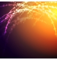 Bright glowing shiny light background vector image