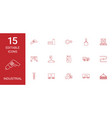 15 industrial icons vector image vector image