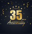 anniversary celebration design with gold confetti vector image vector image
