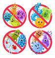 bacterial protection germs in ged round vector image