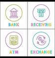 bank receiving transaction vector image vector image