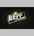 baseball mascot modern professional sport vector image