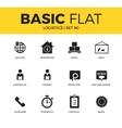 basic set of logistics icons vector image vector image