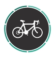 Bicycle icon computer symbol vector image
