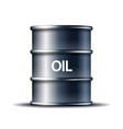 black metal oil barrel with word oil isolated on vector image vector image