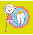 boy with tooth isolated icon design vector image vector image