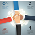 Brainstorm teamwork concept With business team vector image vector image