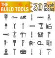build tools glyph icon set construction symbols vector image vector image