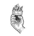 burning drink sketch vector image