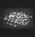 chalk sketch potato wedges vector image vector image