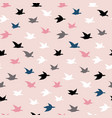 childish colorful crane birds seamless pattern vector image