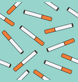 cigarettes seamless pattern vector image
