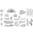 collection mystical and mysterious objects vector image vector image