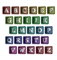 colorful alphabet in form buttons vector image