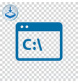 command line icon vector image vector image