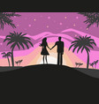 couple on tropical vacation vector image