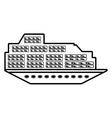cruise boat transatlantic vacation recreation vector image vector image