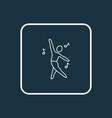 dancing icon line symbol premium quality isolated vector image