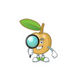 detective cute longan fruit cartoon with character vector image vector image