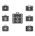 first aid kit icon set symbol vector image