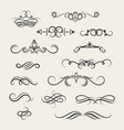 flourish scroll design elements victorian vector image vector image