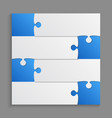 four blue piece puzzle infographic 4 step puzzle vector image vector image