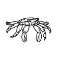 funny crab icon doodle hand drawn or outline icon vector image