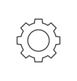 gear outline icon vector image