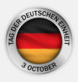 german unity day concept background realistic vector image