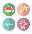 ginger cookie with hat and star of christmas vector image vector image