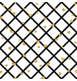 gold heart seamless pattern black-white geometric vector image vector image
