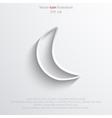 half moon web flat icon vector image vector image