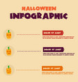 halloween infographic design collection stock vector image