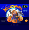 halloween party ready design poster vector image vector image