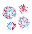 happy 4th july independence day greeting card vector image