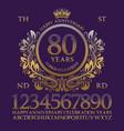 happy anniversary golden numbers alphabet frame