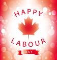 Happy Labour Day Canada greeting card vector image vector image