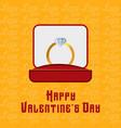 happy valentines day typographic with yellow vector image vector image