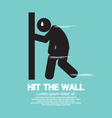 Hit the Wall Run Out of Energy Runner Illu vector image vector image