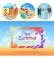 hot summer days workers set vector image vector image