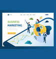 isometric business marketing businessmen next vector image
