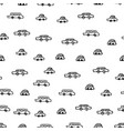 kids pattern with cars monochrome seamless vector image vector image