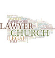 legal help and church matters text background vector image vector image