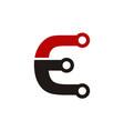 letter e electric symbol vector image vector image