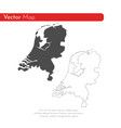 map netherlands isolated vector image vector image