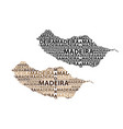 map of madeira vector image
